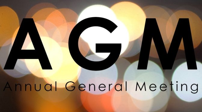 All Welcome At The Annual General Meeting 11th October 2018